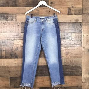 Zara Margot raw cut hem Jeans size 26